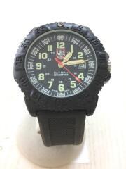 navy seals 200 meters/クォーツ腕時計/アナログ/ラバー/BLK/BLK/3050