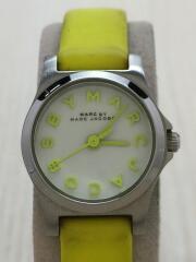Henry Dinky/クォーツ腕時計/アナログ/レザー/イエロー/MBM1235