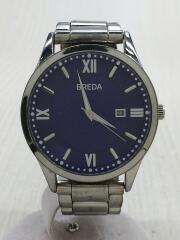 BREDA/クォーツ腕時計/アナログ/ステンレス/ブルー/シルバー/9408