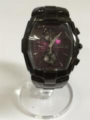 クォーツ腕時計/アナログ/ステンレス/パープル/ブラック/7T92-0HT1