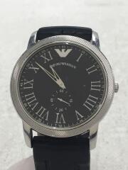 クォーツ腕時計/アナログ/ラバー/BLK/BLK/AR-0465