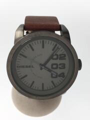 Aeronautic/クォーツ腕時計/アナログ/10気圧防水/レザー/SLV/BRW/DZ-1467