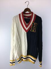 セーター(厚手)/L/コットン/WHT/C8878E3336