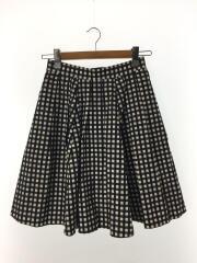 スカート/38/コットン/NVY/チェック