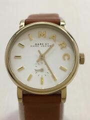 マークバイマークジェイコブス/クォーツ腕時計/アナログ/--/ホワイト/ブラウン/MBM1317/111