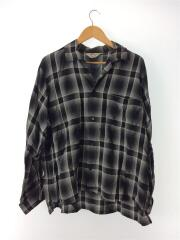 19SS/SHADOW CHECK GIGOLO SHIRT/2/レーヨン/BLK/チェック/19S22