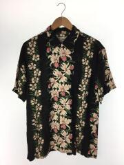 maceye/アロハシャツ/--/レーヨン/BLK/花柄