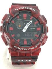 カシオ/ジーショック/クォーツ腕時計/デジアナ/ラバー/BLK/BRD/GAX-100MB