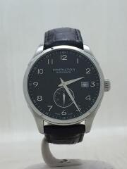 自動巻腕時計/アナログ/レザー/ブラック/H425150/ジャズマスター