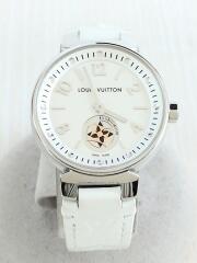 クォーツ腕時計/アナログ/ホワイト
