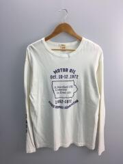長袖Tシャツ/2/--/日本製/プリントTee/アームプリント/コットン/