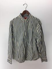 19AW/Denim Shirt/長袖シャツ/L/コットン/IDG/ストライプ