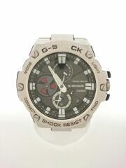 ソーラー腕時計・G-SHOCK/アナログ/ステンレス/SLV/GST-B100D-1AJF/傷有/Bluetooth  G-STEEL