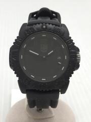 クォーツ腕時計/アナログ/ラバー/BLK/BLK/Navy Seal/ネイビーシールズ/3050/3950