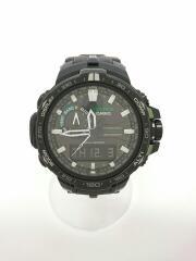 ソーラー腕時計・PROTREK/デジアナ/BLK/PRW-6000Y-1AJF/箱付属/プロトレック