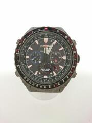 クォーツ腕時計/アナログ/ステンレス/BLK/BLK/8B92-0AM0/箱付属