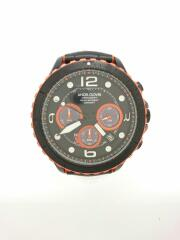 ソーラー腕時計/アナログ/レザー/BLK/BLK/TCD45PBK