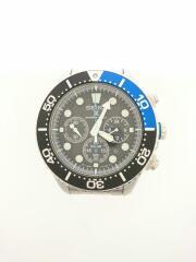 ソーラー腕時計/アナログ/ステンレス/BLK/SLV/SSC017P1