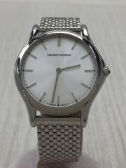 エンポリオアルマーニ/ARS2006/クォーツ腕時計_ステンレス/アナログ/SLV/SWISS MADE
