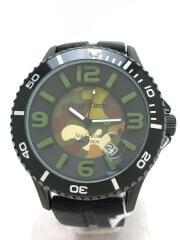 エンジェルクローバー/SC42/クォーツ腕時計/アナログ/ラバー/BLK/BLK