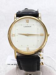 セイコー/8N20-7000/LASSALE/ラサール/クォーツ腕時計/アナログ/レザー/WHT/BLK