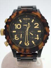 ニクソン/42-20/クロノグラフ/クォーツ腕時計/アナログ/ステンレス/BLK/BRW