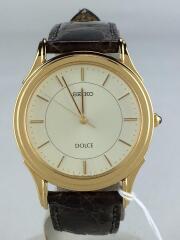 セイコー/5E31-7A40/DOLCE/ドルチェ/クォーツ腕時計/アナログ/レザー/IVO/BRW
