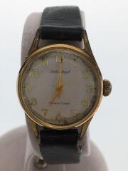 セイコー/1004-0030/手巻腕時計/アナログ/レザー/WHT/BLK