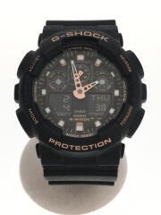 カシオ/GA-100GBX-1A4JF/クォーツ腕時計・G-SHOCK/デジアナ/ラバー/BLK