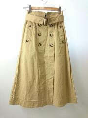 ユナイテッドアローズグリーンレーベルリラクシング/ロングスカート/36/コットン/BEG/トレンチスカート