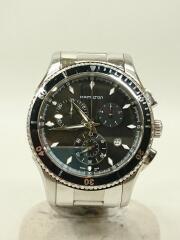 クォーツ腕時計/アナログ/ステンレス/BLK/SLV/H375120