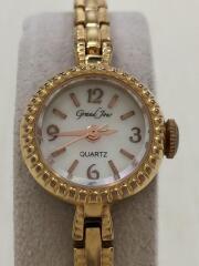 クォーツ腕時計/--/ステンレス/WHT/GLD