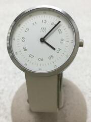 マベン/腕時計/アナログ/レザー/WHT