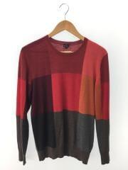 セーター(薄手)/L/ウール/RED
