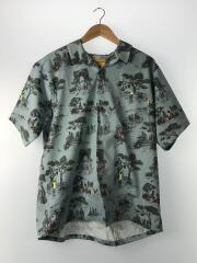 UNION LOSANGELES/アロハシャツ/XL/ポリエステル/BLU