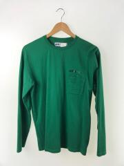 長袖Tシャツ/M/コットン/GRN/Double Pocket Long Sleeve T-Shirt