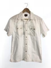 ウエスタン刺繍シャツ/M/コットン/WHT