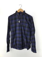 長袖シャツ/XS/コットン/BLU/チェック