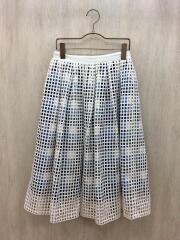 ロングスカート/1/コットン/WHT/チェック