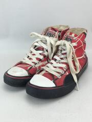ハイカットスニーカー/--/RED/キャンバス/80s