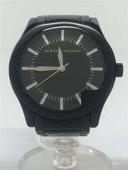 クォーツ腕時計/アナログ/ステンレス/BLK/BLK/AX2050