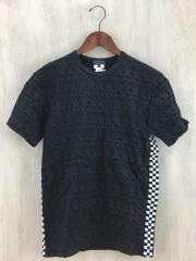 Tシャツ/S/コットン/BLK/総柄