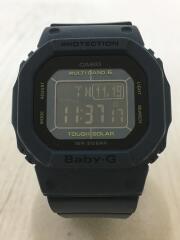 ソーラー腕時計・Baby-G/デジタル/ラバー/BLK/NVY