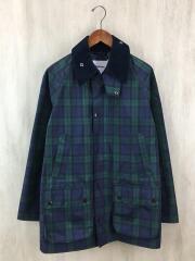 カバーオール/XL/ナイロン/BLU/チェック/フィールドジャケット ×BEAMS 1901192