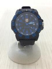 クォーツ腕時計/アナログ/ラバー/ブラック/黒/Navy Seal Colormark/ルミノックス