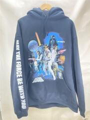 20SS/STARWARS/Movie Poster 1 Hooded Shirt/パーカー/M/コットン/ブラック/プルオーバー スターウォーズ プリント