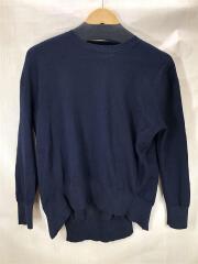 PICCOLO GREYMELANGE knit/SN-615/セーター(薄手)/0/ウール/ネイビー/無地