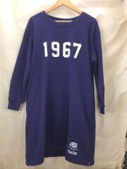 ×BLUE BLUE/1967ロゴスウェット/スウェット/1/コットン/PUP