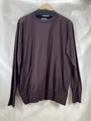 19AW/SUPER HIGH GAUGE SWEAT P/O/長袖Tシャツ/4/コットン/ブラウン