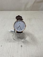 Classic Sheffield/箱有/クォーツ腕時計/アナログ/レザー/WHT/BRW